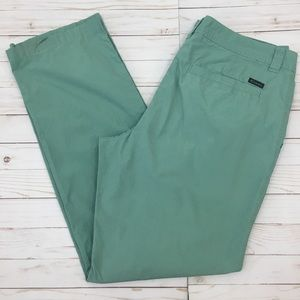 Columbia Green Washed Out Cotton Poplin Pants 38